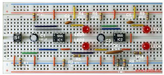 المؤقت NE555 : مبدأ العمل ، تجارب ، مشاريع ، تطبيقات  14-210
