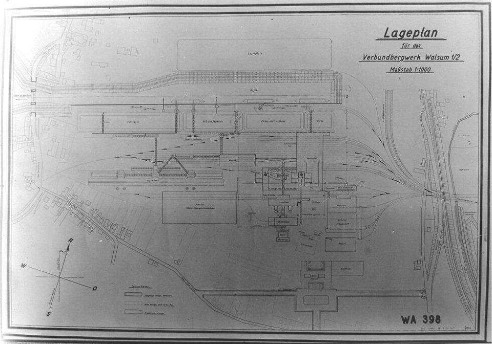Alte historische Originalaufnahmen der Zeche Walsum 15781310