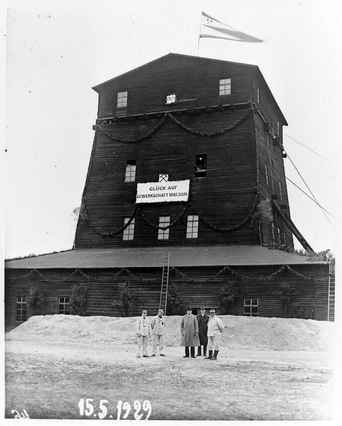 Alte historische Originalaufnahmen der Zeche Walsum 15781610