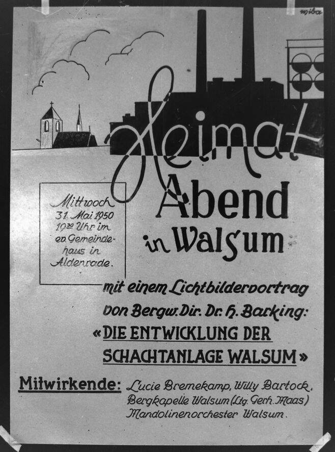 Alte historische Originalaufnahmen der Zeche Walsum 15781710