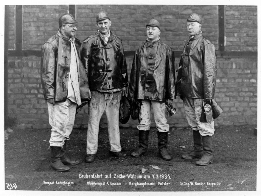 Alte historische Originalaufnahmen der Zeche Walsum 19400010
