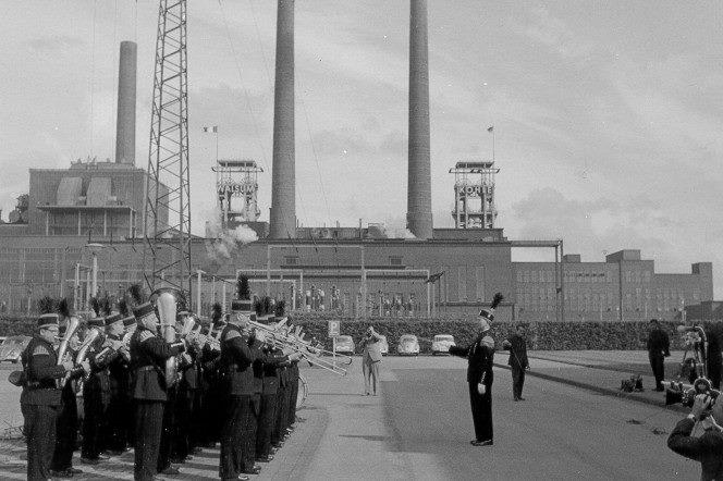 Alte historische Originalaufnahmen der Zeche Walsum 19400011