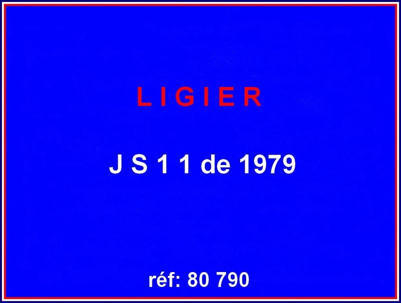 Ligier JS 11   saison 1979 échelle 1/12ème réf: 80 790  Ligier17
