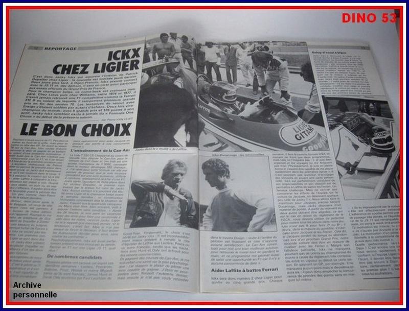 Ligier JS 11   saison 1979 échelle 1/12ème réf: 80 790  Ligier28