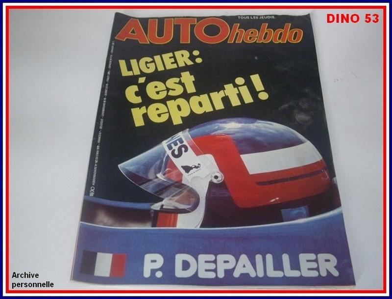 Ligier JS 11   saison 1979 échelle 1/12ème réf: 80 790  Ligier30