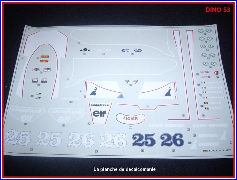 Ligier JS 11   saison 1979 échelle 1/12ème réf: 80 790  Ligier42