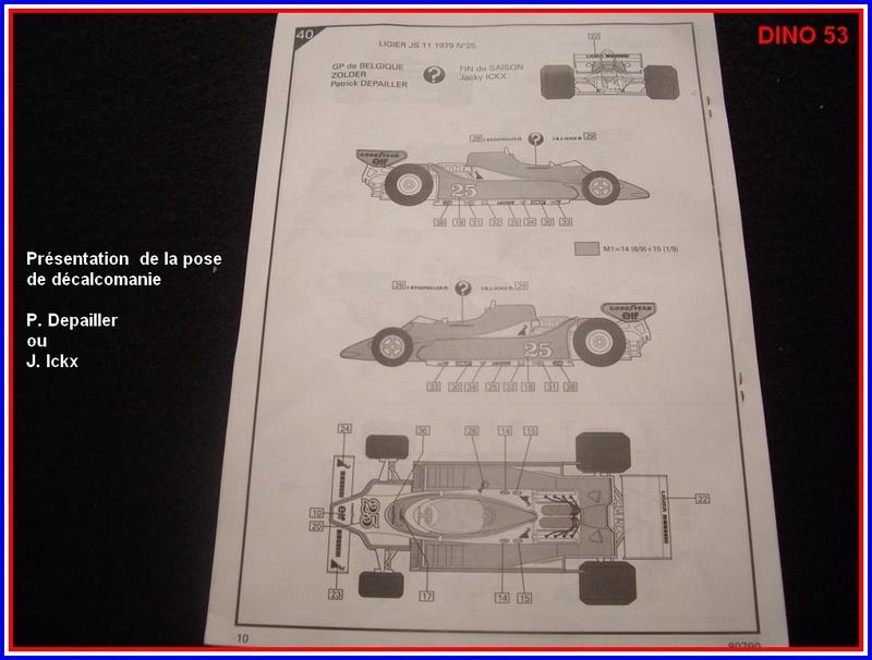 Ligier JS 11   saison 1979 échelle 1/12ème réf: 80 790  Ligier44