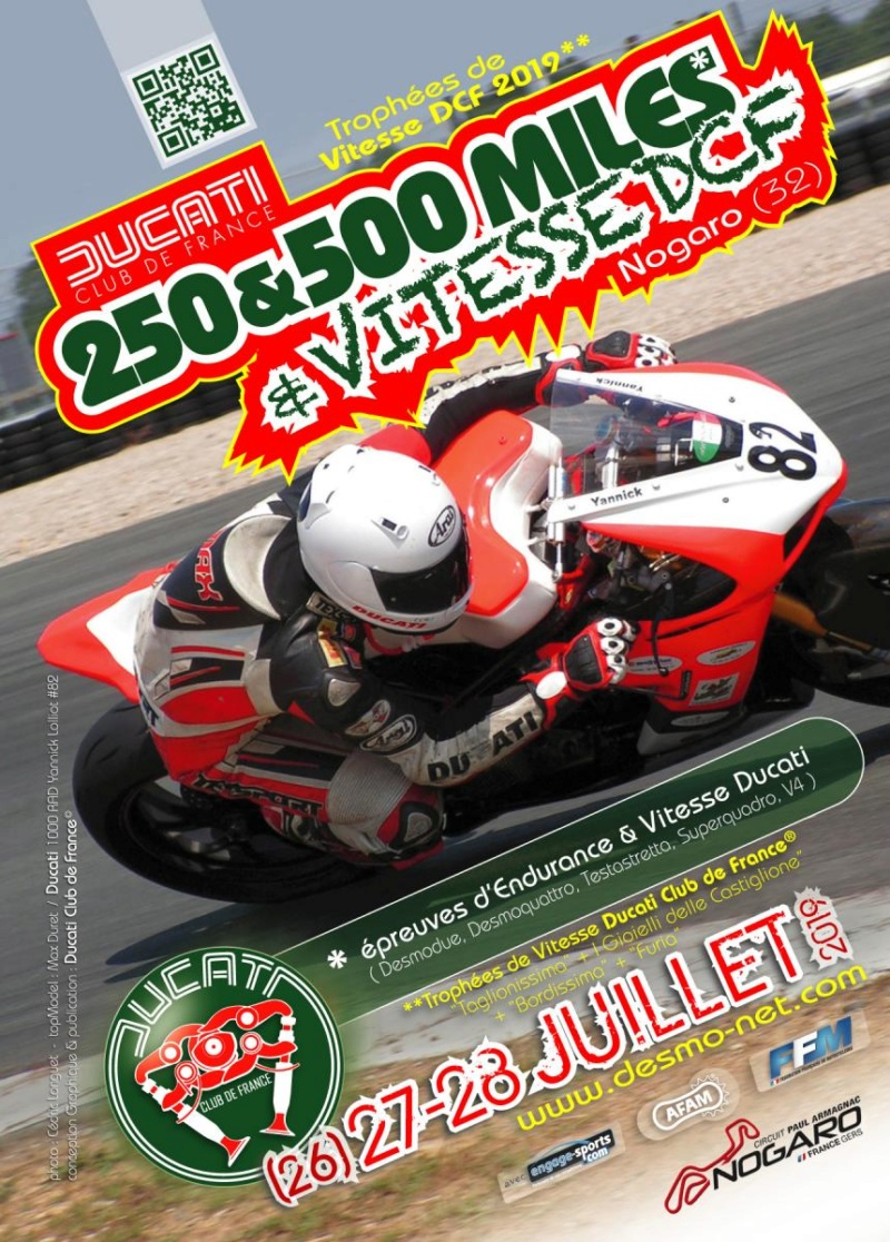 Endurance Ducati  Nogaro 2019 Affich10
