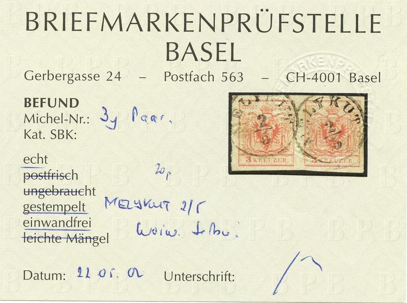 Die erste Österreichische Ausgabe 1850 - Seite 12 Ank_3_11