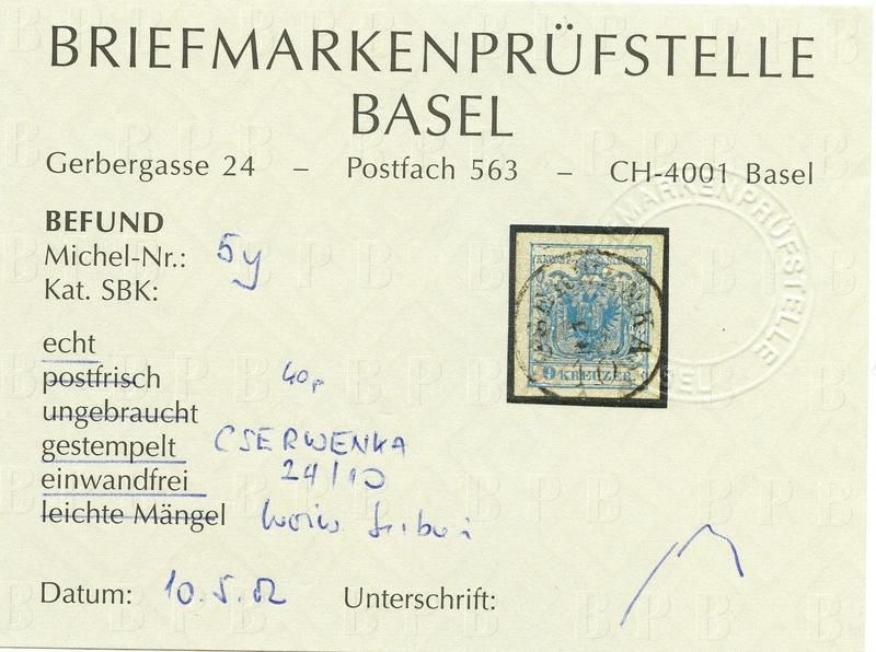 Die erste Österreichische Ausgabe 1850 - Seite 12 Ank_5_12