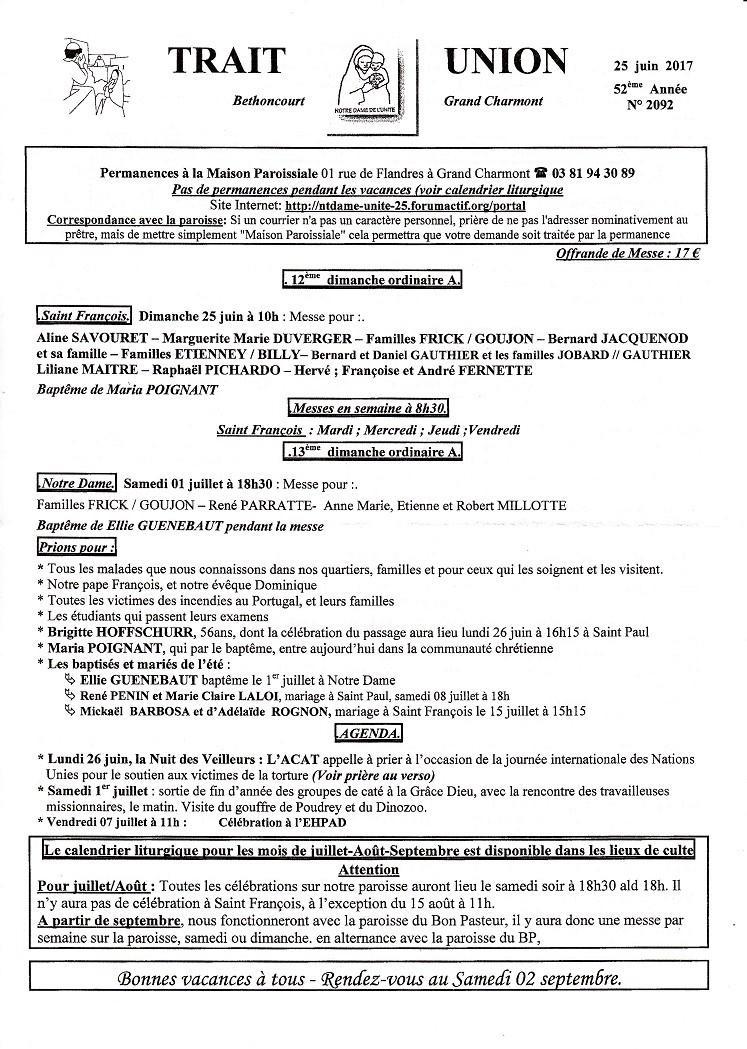 Trait d'union du 25 juin 2017 Tu170610