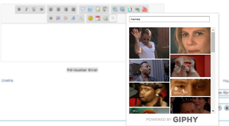 [Addon] Adicionar botão de GIFS (GIPHY) no SCEditor Result10