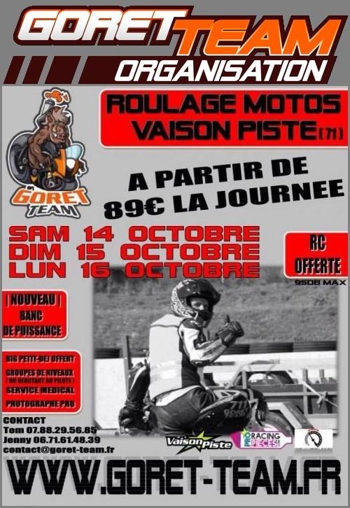 14-15-16 octobre|vaison piste|goret-team|à partir de 89€ Flyers10