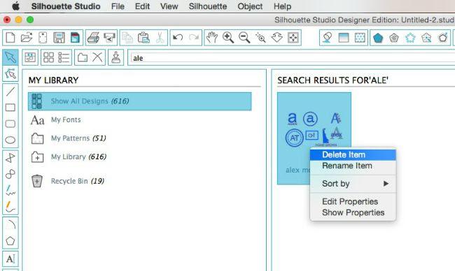 Importer plusieurs fichiers dans la bibliothèque Silhouette avec MAC Supp_l10