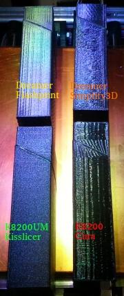 Le fond du problème, imprimante VS imprimante, slicer VS slicer Surfac12
