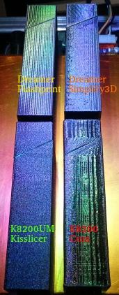 Le fond du problème, imprimante VS imprimante, slicer VS slicer Surfac13