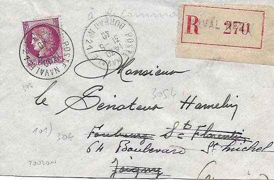 Bureau Naval N° 21 de Toulon 2110