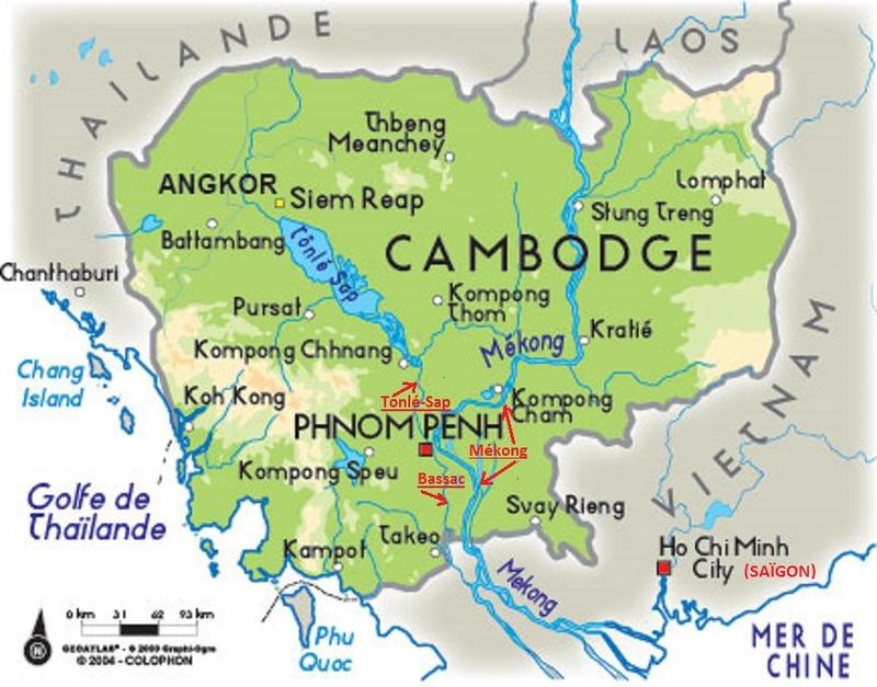 """Pirogue de la """"Fête des eaux"""" (""""Bon Om Touk"""" pour les Khmers) au Cambodge Carte_10"""