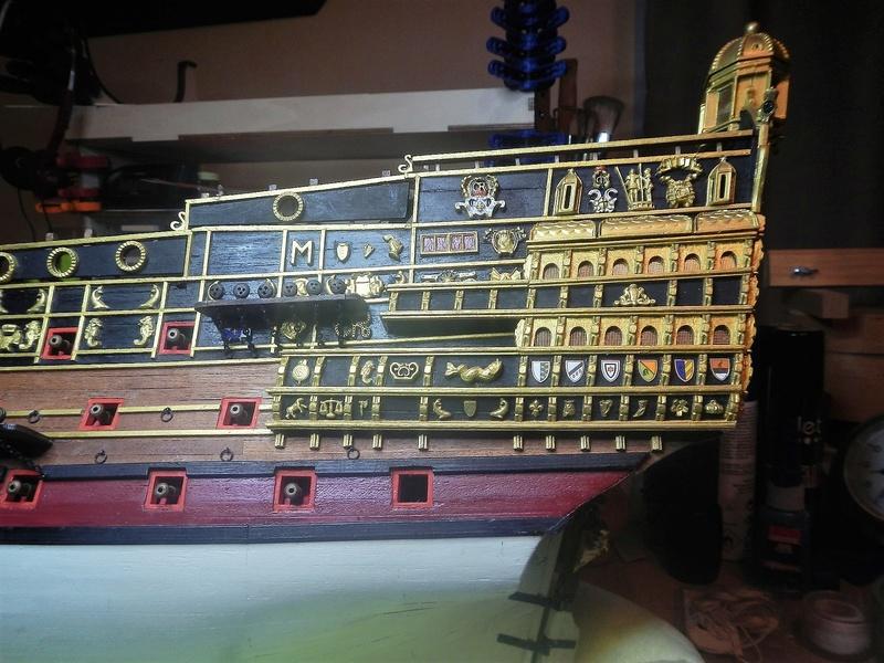 """Construction du """"Sovereign of the Seas"""" au 1/84 par Glénans - Partie II - Page 21 Dscn6266"""