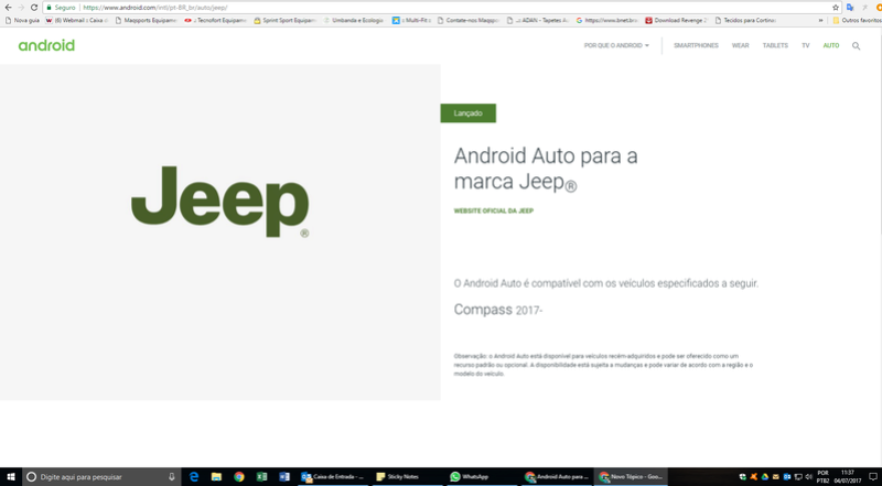 Android Auto no Compass Aajc10