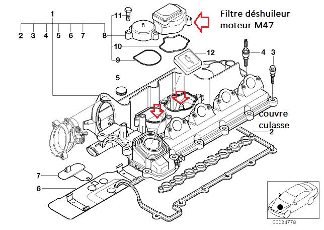 [ BMW E46 320D M47 an 2001 ] Surpression d'huile / huile dans admission d'air 11_e4610