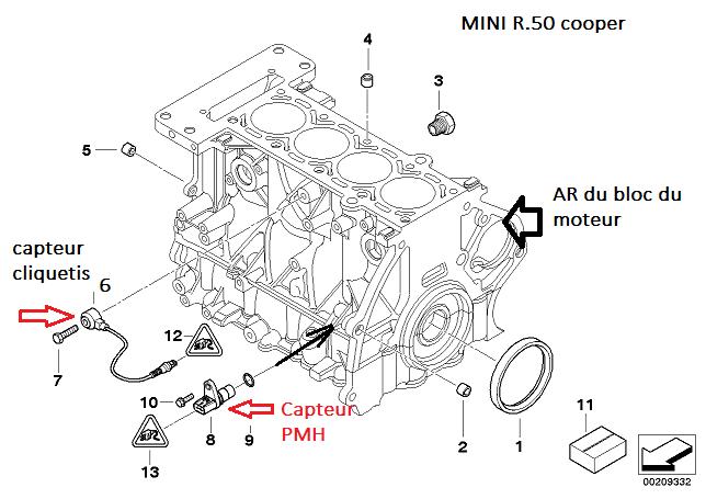 [ Mini cooper R50 1.6 115 W10 an 2003 ] Plus d'allumage après dépose boite 11_min10