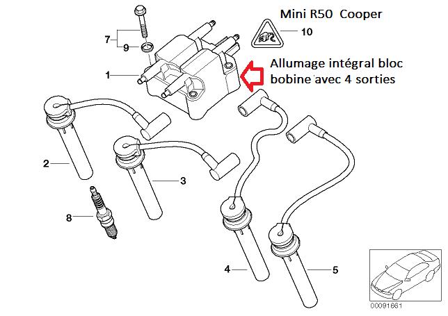 [ Mini cooper R50 1.6 115 W10 an 2003 ] Plus d'allumage après dépose boite 12_min10