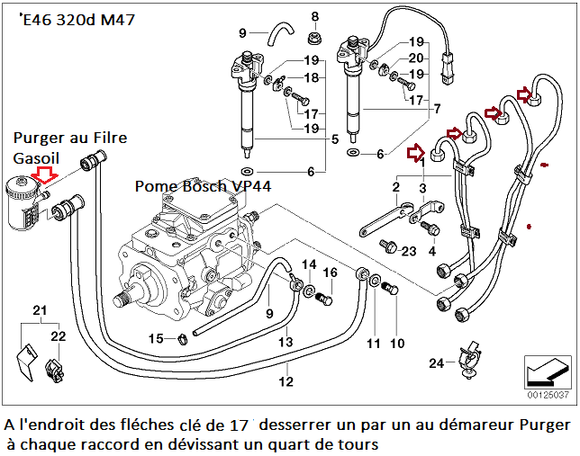 bmw e46 320d m47 an 2001   surpression d u0026 39 huile    huile
