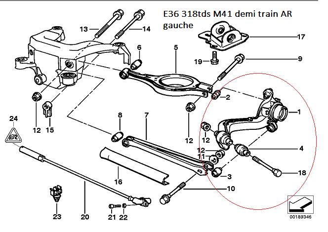 [ BMW E36 318 TDS M41 an 1997 ] Remplacement silent-bloc train arrière (résolu) 33_31810