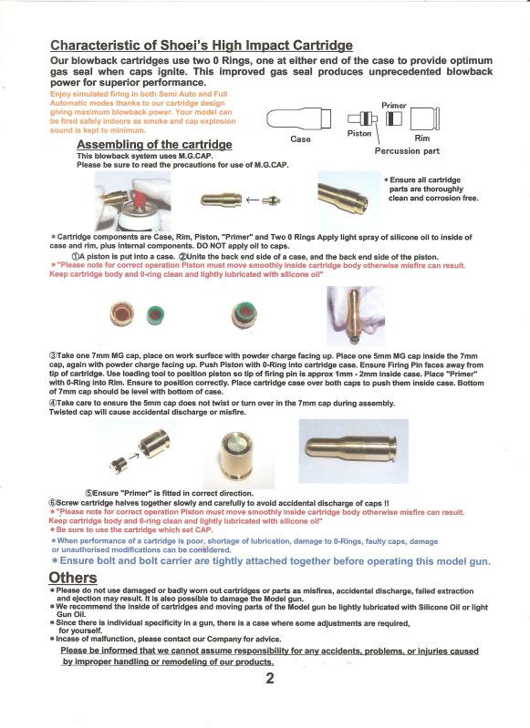 Shoei MKb42(H) Blowback Cap-Firing Model Shoeim18