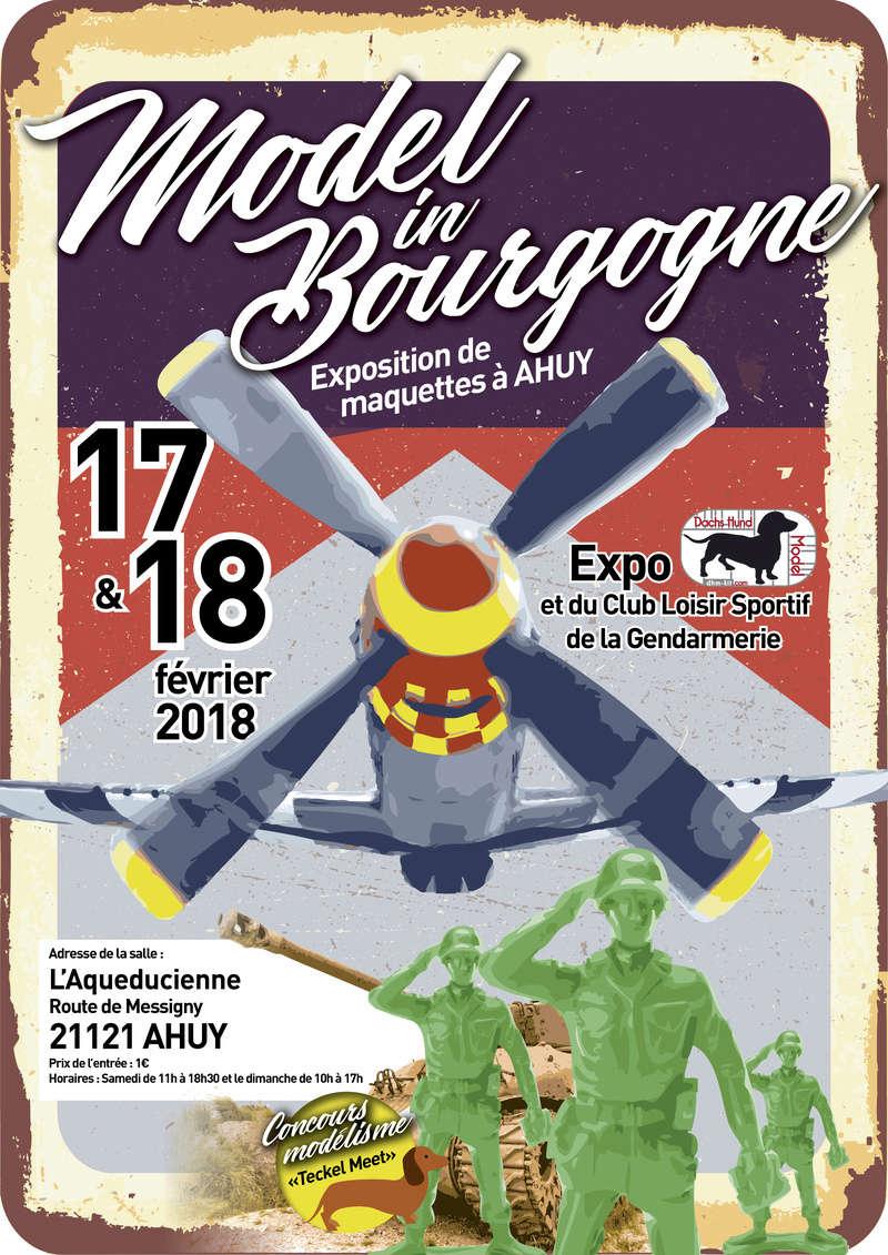Model In Bourgogne - Expo Dhm-kit & CLSG Dijon - 17 & 18 Février 2018 Affich10