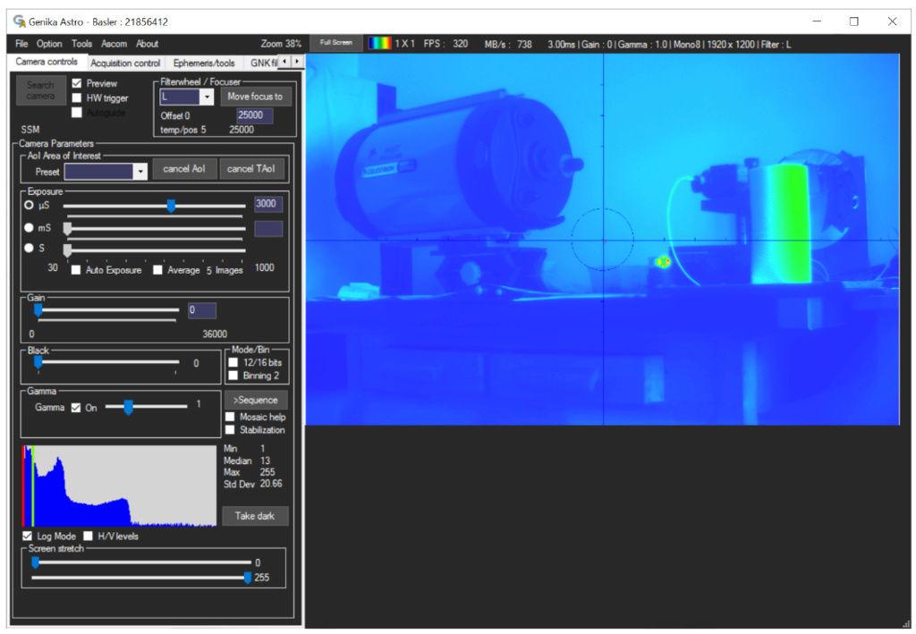 Genika Astro (logiciel de capture de séquences video orienté pour l'imagerie planétaire) 210