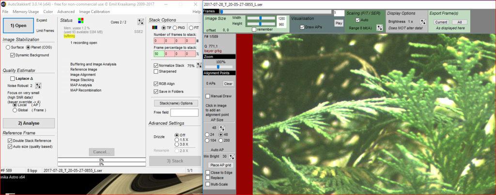 Genika Astro (logiciel de capture de séquences video orienté pour l'imagerie planétaire) Cam11
