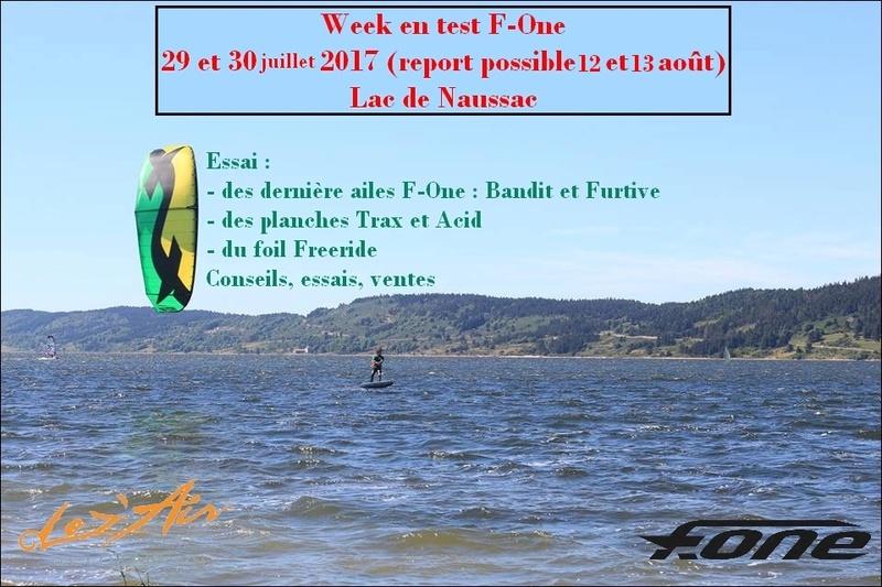 29-30 juillet 2017 : WE test F-One à Naussac Affich11