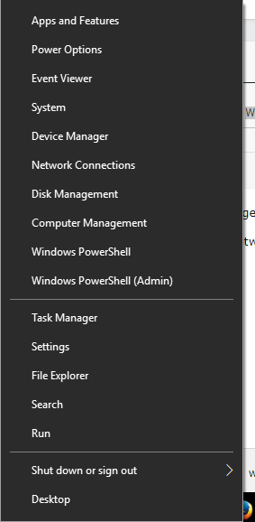 List of some Win+X Menu (Right Click Start Button) in Windows 10 broken and needs to be removed Untitl10