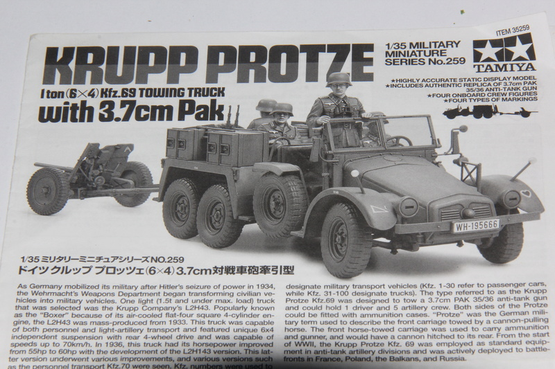 Kfz.69 Krupp Protze FFI Tamiya 1/35 question peinture 00611