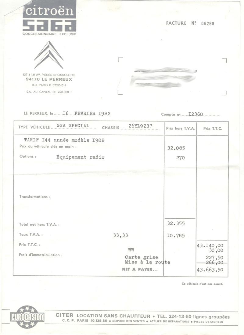 [lgm25] GSA Spécial vert jade 1982 Factur10