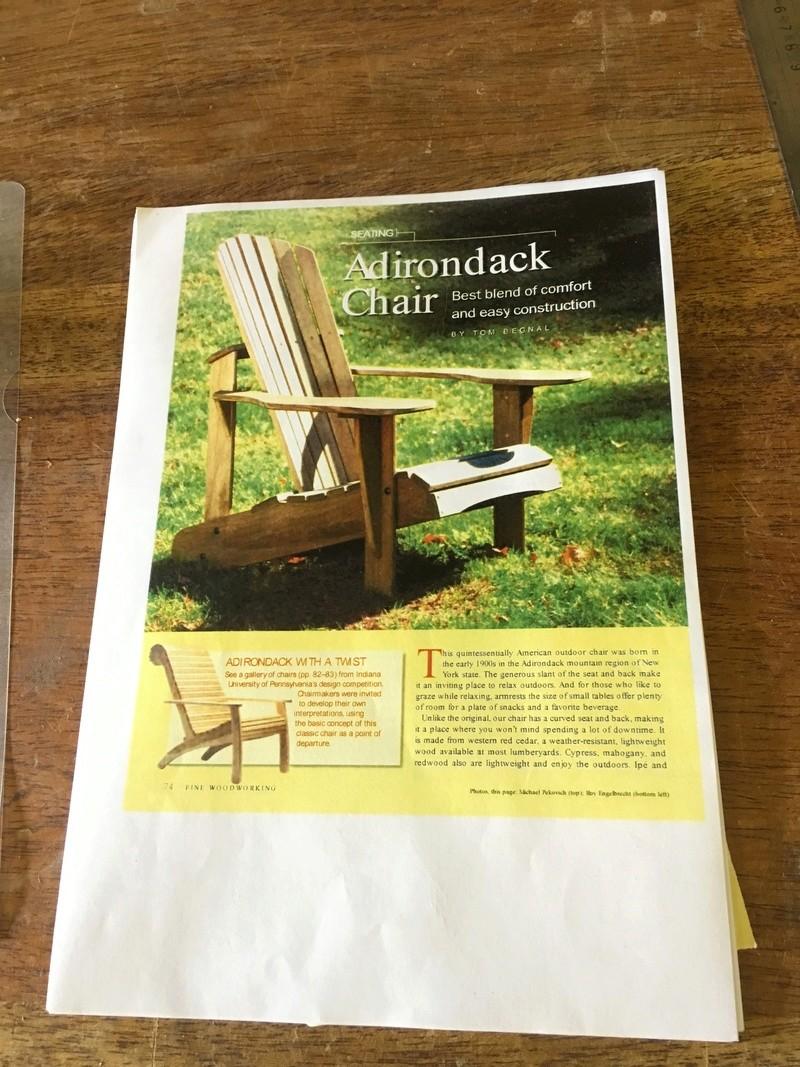 Adirondack, réalisation de 3 fauteuils de jardin Img_1924