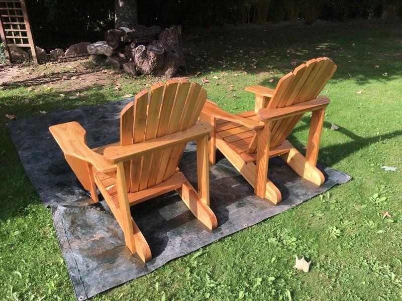 Adirondack, réalisation de 3 fauteuils de jardin - Page 3 Img_2120