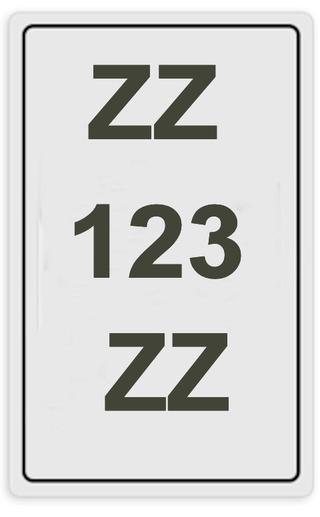 Plaque immatriculation 13 X 21 Image211