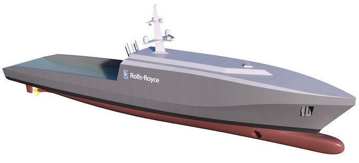 Rolls-Royce dévoile un nouveau navire a applications militaires. 36972510