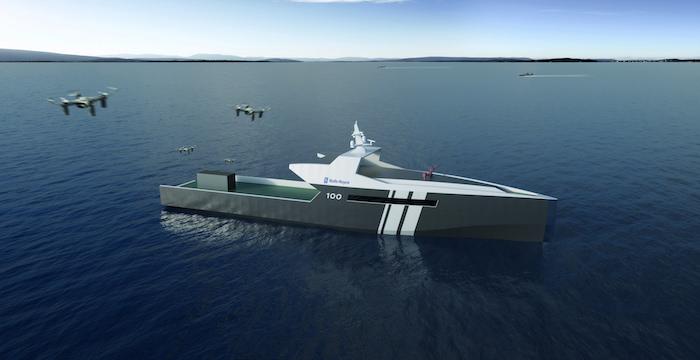 Rolls-Royce dévoile un nouveau navire a applications militaires. 37019810