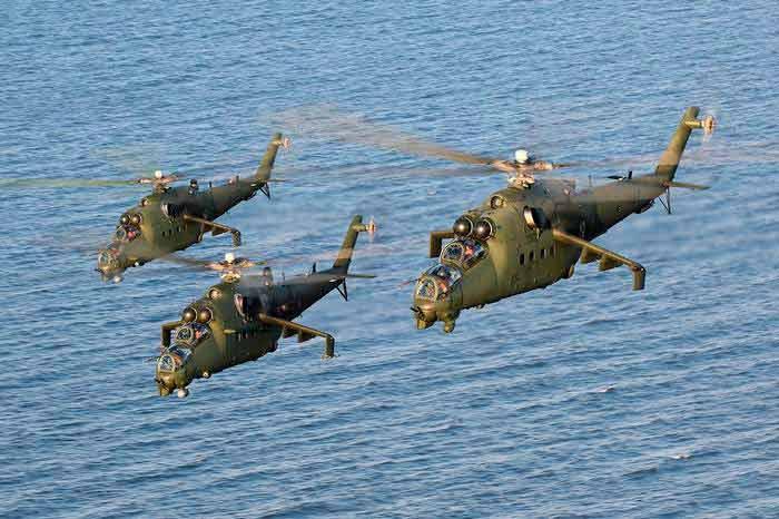 THALES -Industrie  va équiper les hélicoptéres de l'armée polonaise. Mi-24-10
