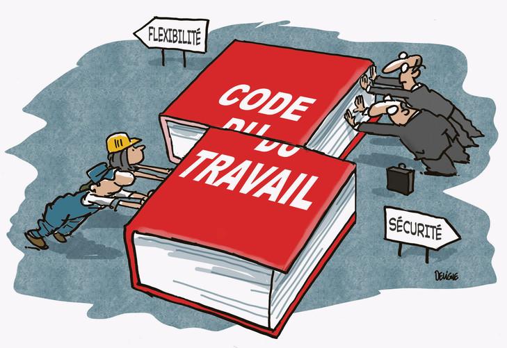 Lois Travail, ordonances Macron Code-t10