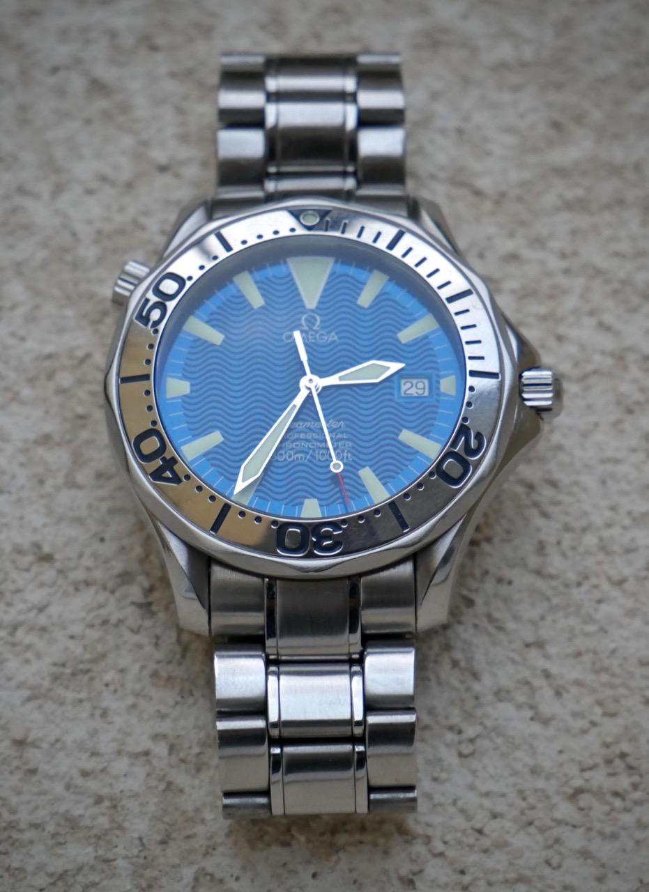 seamaster - [Vends] [Echange] Omega Seamaster 300 peter blake electric blue - 1900e P1050116