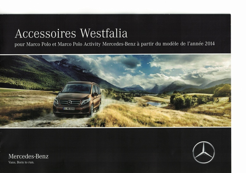 speical offer detailed look sale Catalogue accessoires Westfalia pour Classe V