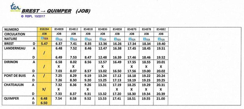 BREST / QUIMPER Horaires des circulations ferroviaires à compter du 10 décembre 2017 Image025