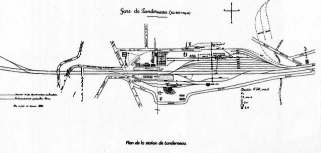 Plan de voies 1923 gare de Landerneau Image_61