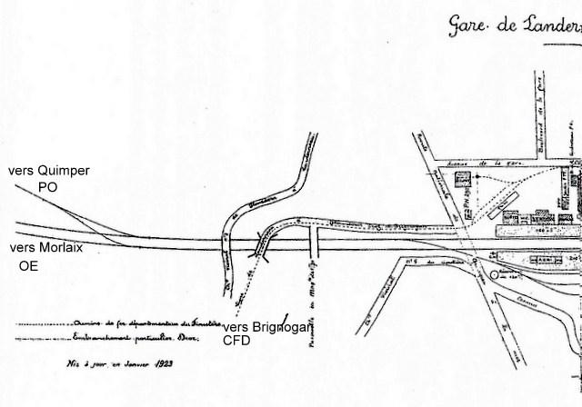 Plan de voies 1923 gare de Landerneau Image_62