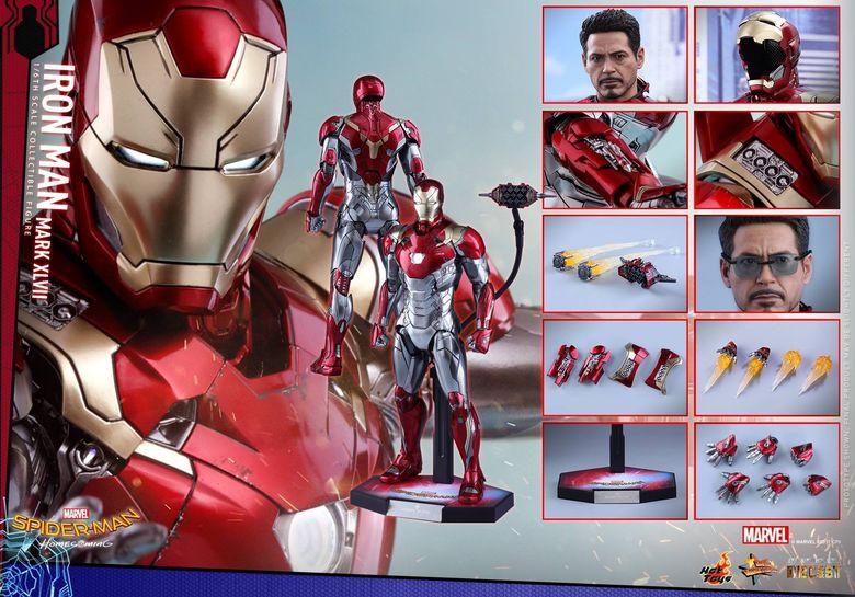 Spider-Man Homecoming - Iron Man Mark XLVII Diecast 1/6 (Hot toys) 14543210